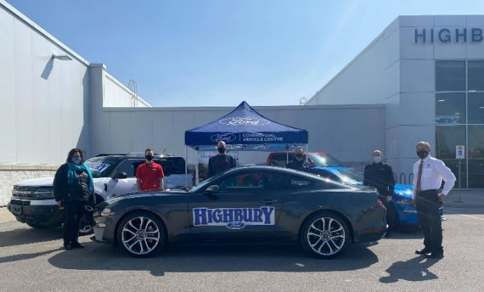 Ford Mustang donated by Highbury Ford