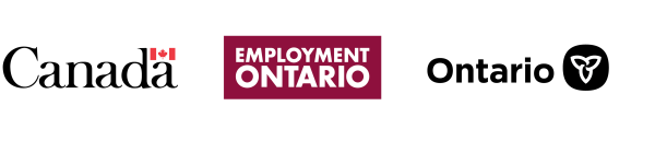 Symbol of the Government of Canada, Wordmark of Employment Ontario, Symbol of the Government of Ontario.