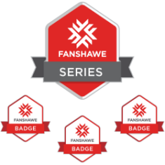 Fanshawe microcredential series image and badges for microcredentials