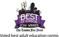 Best of London 2014 Winner. Voted best adult education centre.