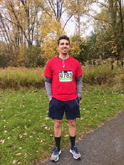 Fanshawe student Mike Katsoulis at Gibbons Park