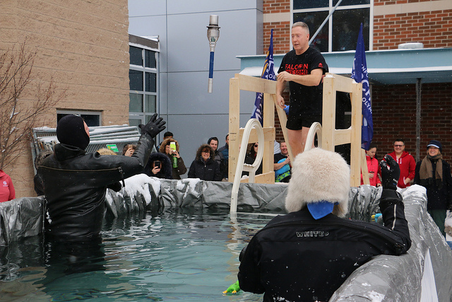 President Devlin takes the plunge for Special Olympics