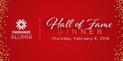 Hall of Fame Dinner, Thursday, February 8, 2018