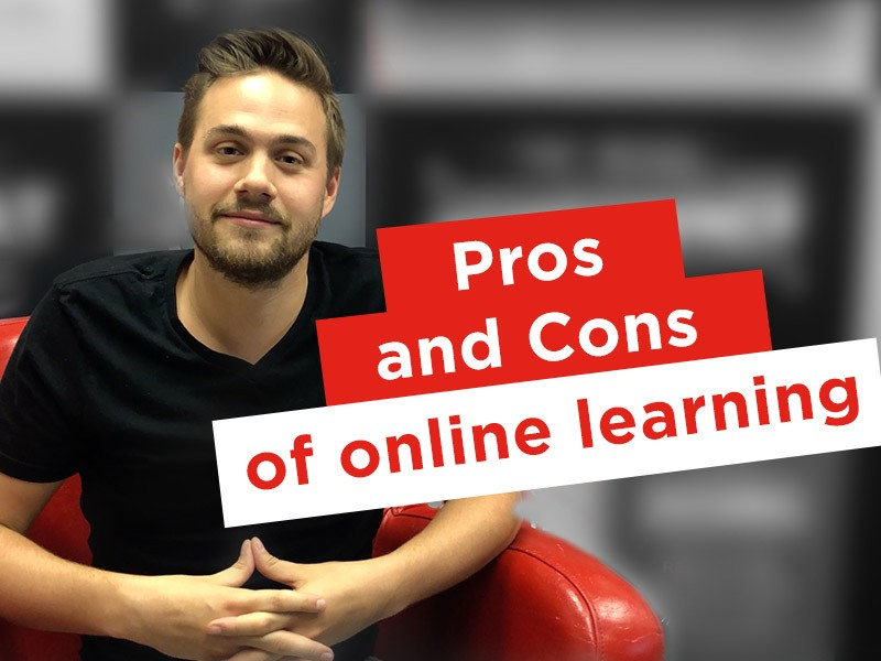 Student explains the benefits of online learning