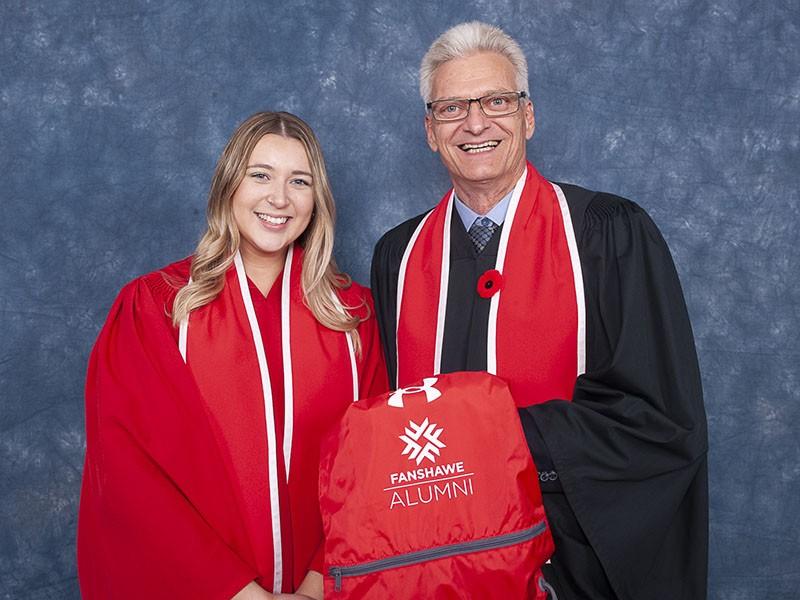 Photo of Fanshawe College's 200,000 alumni, Haley Adlred