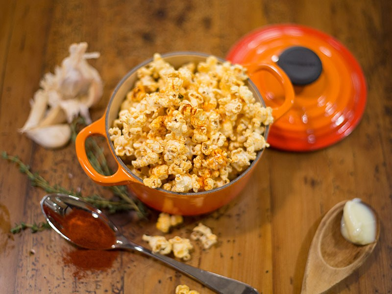 Image of Chef Erin Circelli-Russell's gourmet popcorn.