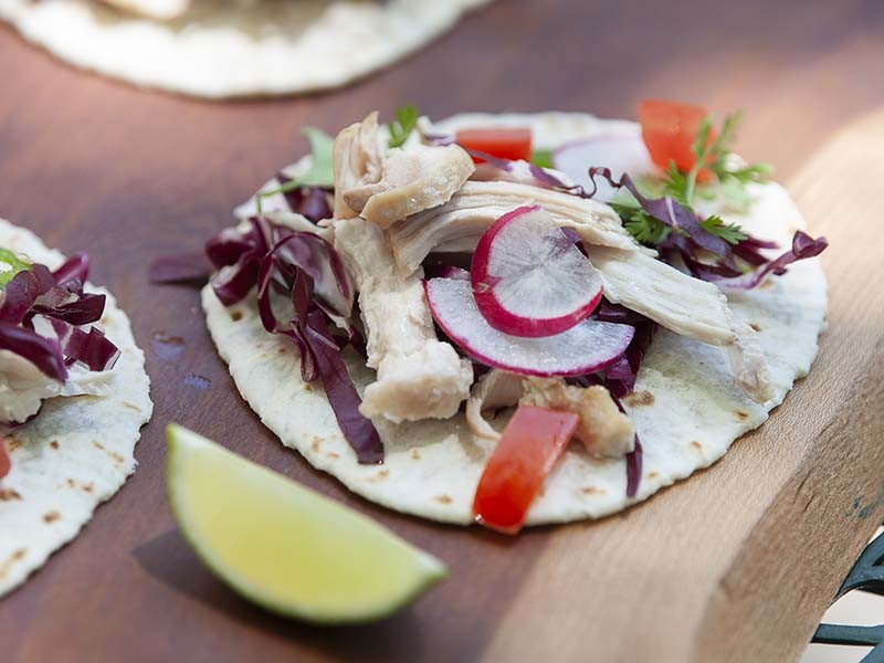 Two chicken recipes using local in-season food