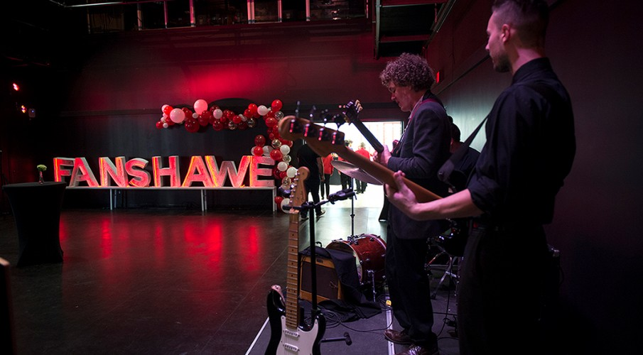 Band playing at Fanshawe's VIP Reception