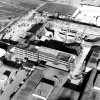 Aerial photo of D Building, 1971