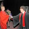Rob McGregor congratulates graduate