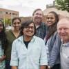 Lawrence Kinlin School of Business international graduate studies barbecue, 2014