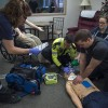 Paramedic students in the SIM lab, January2017
