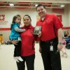 Oct. 2012 Student of the Month Donna Pinnance, daughter Hailee and Kevin Lamure