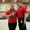 Feb. 2013 Student of the Month Elizabeth Wemigwans with FNC Manager Kevin Lamure