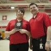 Nov. 2012 Student of the Month Alicia Snake with FNC Manager Kevin Lamure