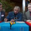 John Doerksen, Bruce Elijah (elder), Peter Devlin (President, Fanshawe College)