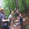 Students exploring nature
