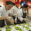 Fanshawe College's Tourism and Hospitality students preparing salads
