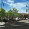 Street view perspective of a proposed gateway design in St. Thomas, ON