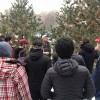 Students with Mike Pascoe during woody walk on our Campus learning Deciduous / Coniferous Trees – our campus is a recognized International Botanical Garden.