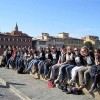 Students exploring Florence, Italy before a walk through the Boboli Gardens.