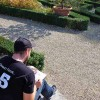 Student sketching in Villa Petraia, an essential part of the study abroad program.