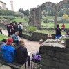 More sketching at ancient Etruscan ruins in Fiesole, Italy after a day visiting gardens.
