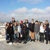 Guided city tour of Seville, Spain.  Class picture at the top of the Metropol Parasol.