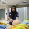 Nursing student in simulation lab