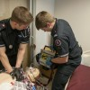 Paramedic students in simulation lab