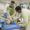 Respiratory Therapy students in simulation lab
