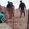 AEL1J students work on a beach