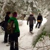 AEL1J students snowshoeing