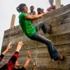 AEL1J students climbing a wall