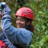 AEL1J student ziplining