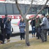 Instructor speaks to students upon arrival for site visit