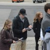 Students take notes in preparation for site visit