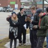 Students eager to begin walking tour of study area