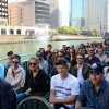 Fanshawe students and instructors tour Chicago along the river.