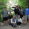 Gathered in front of Fallingwater during a tour of the famous Frank Lloyd Wright property outside Pittsburgh