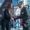 Fanshawe President Peter Devlin and Fanshawe Student Union President Morganna Sampson at grand opening of the Student Wellness Centre, September 21, 2017