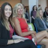 Fanshawe Student Union president Morganna Sampson sits with four-time Olympic rower, Silken Laumann, at the grand opening of the Student Wellness Centre on September 21, 2017