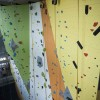 Photo of the 26-foot climbing wall in the Student Wellness Centre