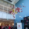 Balloon drop during the grand opening of the Student Wellness Centre, September 21, 2017