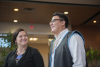 Jessica Ford (First Nations Studies) and Frazer Phillips (student)