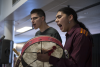 Hand drum performance by Nimkii-nini (Thunder-man)