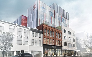 Architect's rendering of Downtown Phase II