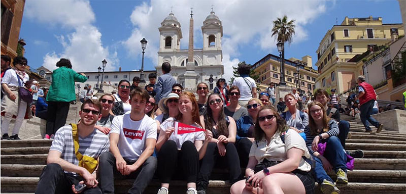 Fanshawe College student meet up abroad