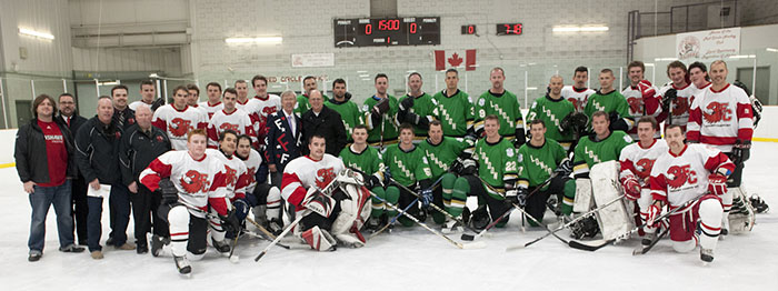 Photo of Community Cup hockey game