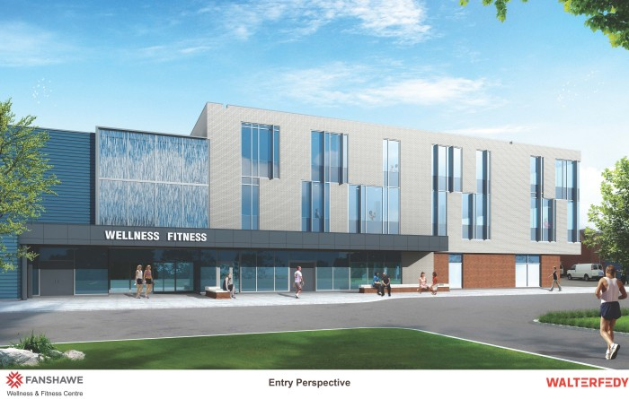 Rendering of the future Wellness Fitness Centre